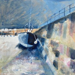 Alan Townsend Last Summer, Porthmadog Harbour (lockdown art)