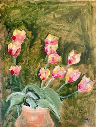 Alan Townsend Tulips 1 (lockdown art)